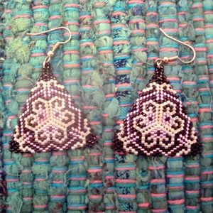 Jewelry - Beaded triangle earrings